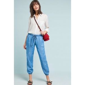 NWT Anthropologie chambray joggers